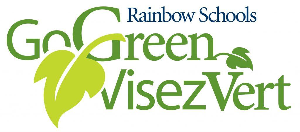 Rainbow Schools Go Green Visez Vert logo