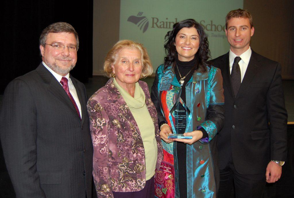 Kristina Rivard Gobbo accepting her award