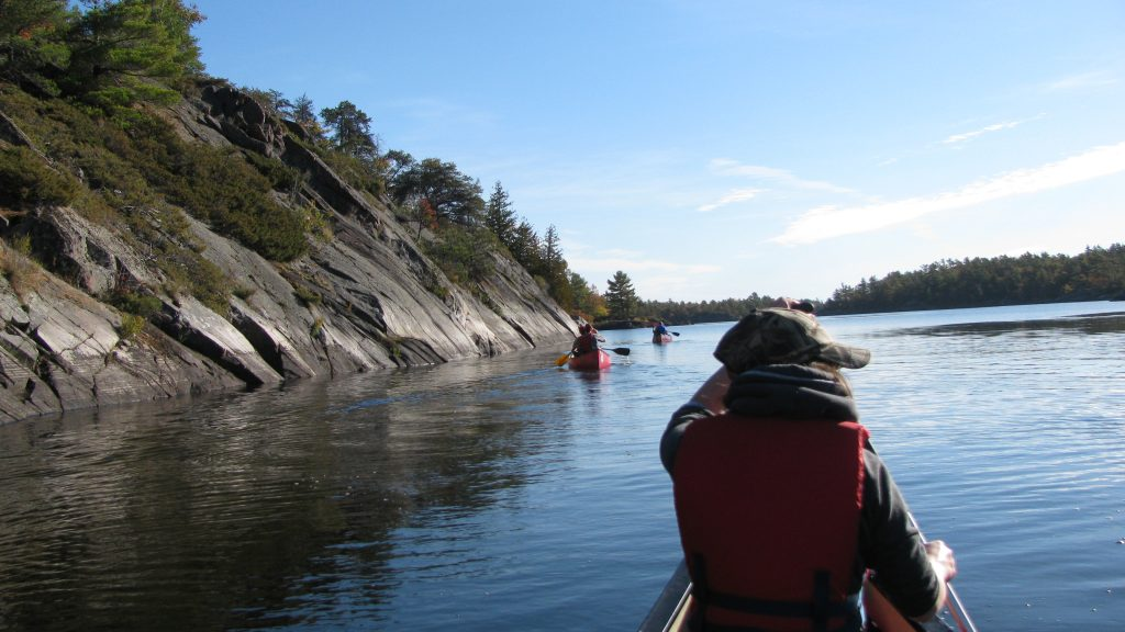 People canoeing in Sudbury