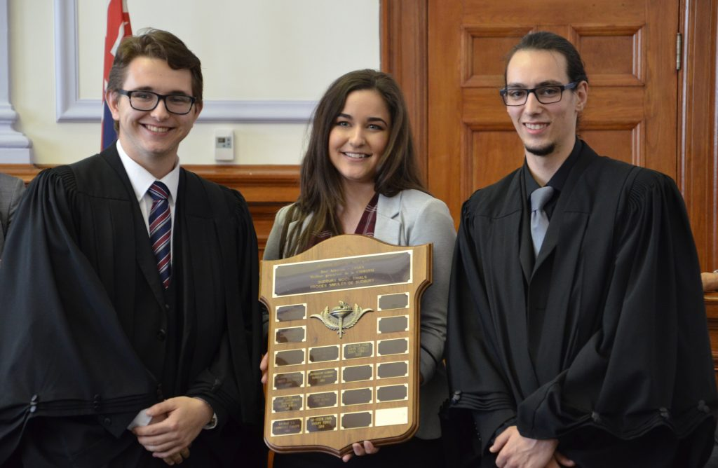 Mock Trial competition winner