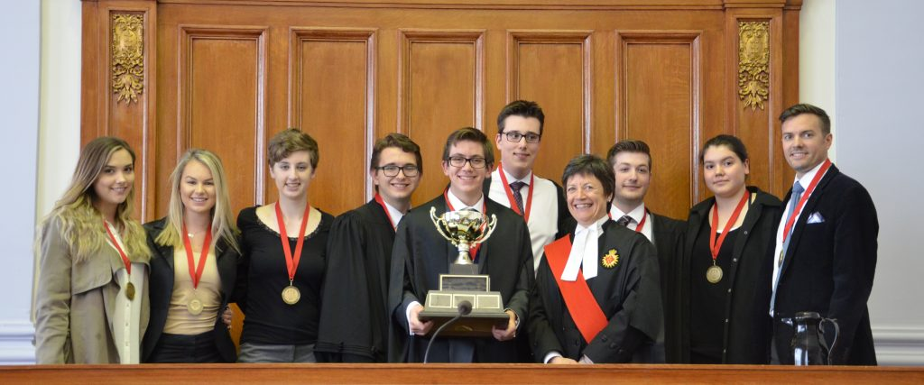 Mock trial competition gold medalists