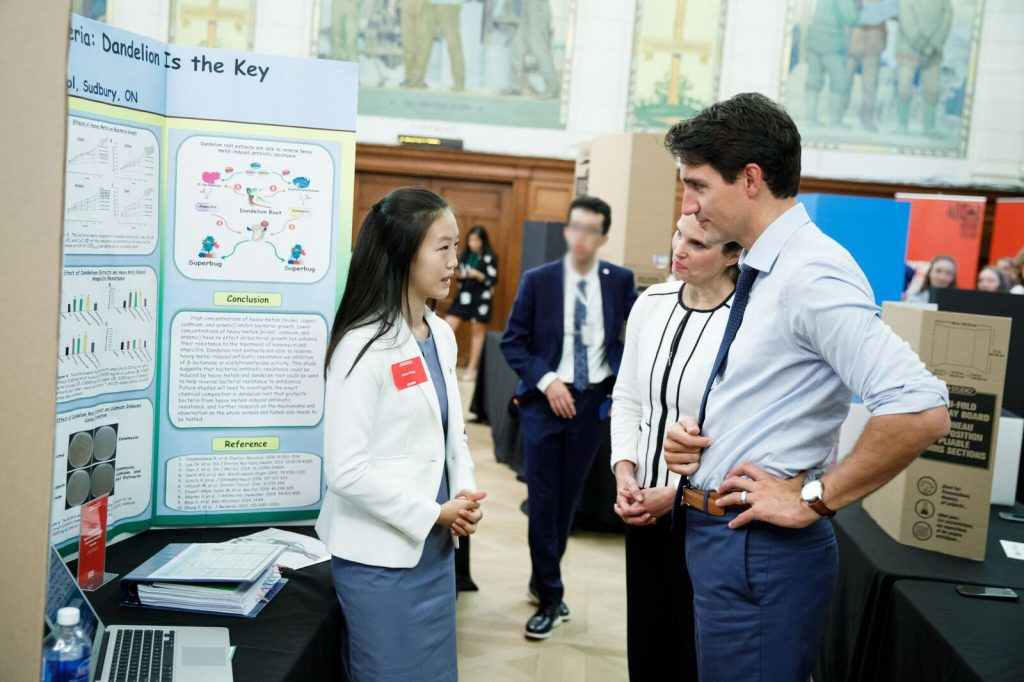 kerry yang speaking with Prime Minister Justin Trudeau
