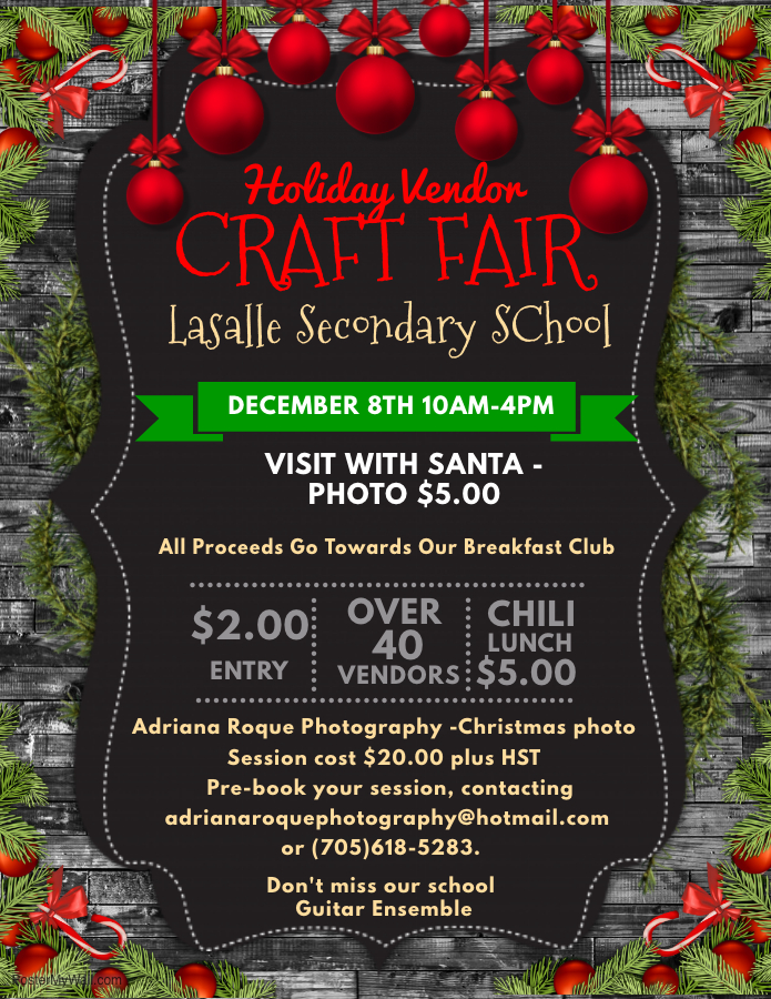 Lasalle Holiday Craft Show flyer