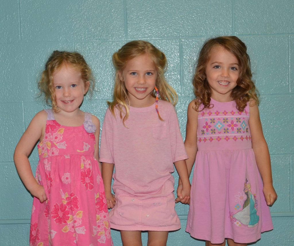 Students wearing pink